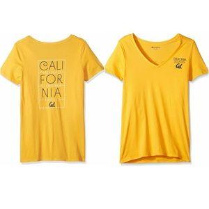 NCAA Cal Bears Yellow V Neck Tee